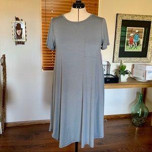 """Soft grey LuLaRoe """"Carly"""" swing dress w/ pocket"""